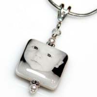 16mm Square Mother of Pearl Pendant